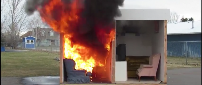 Forensics controlled fire