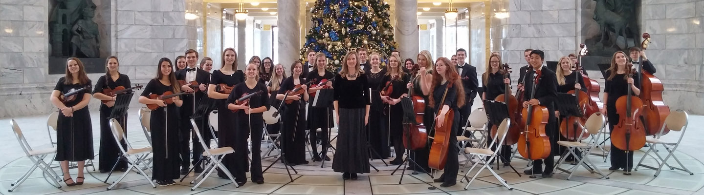 Orchestra plays at the Utah Capitol Building