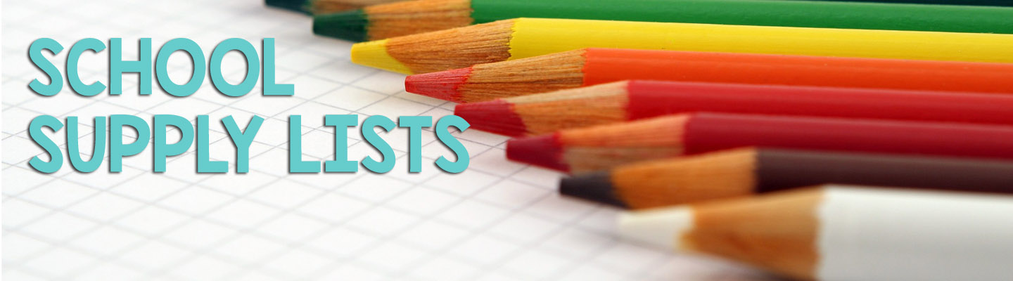 School Supply Lists - Banner Image