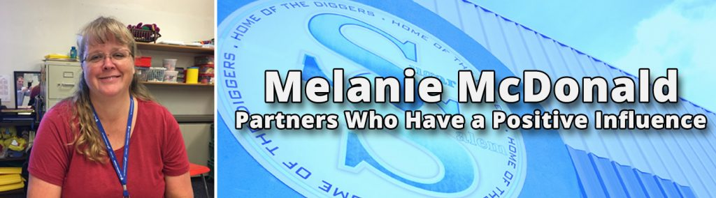 Partners who have a positive influence. Melanie McDonald.
