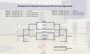 Volleyball District Tournament Bracket. Click for full size.