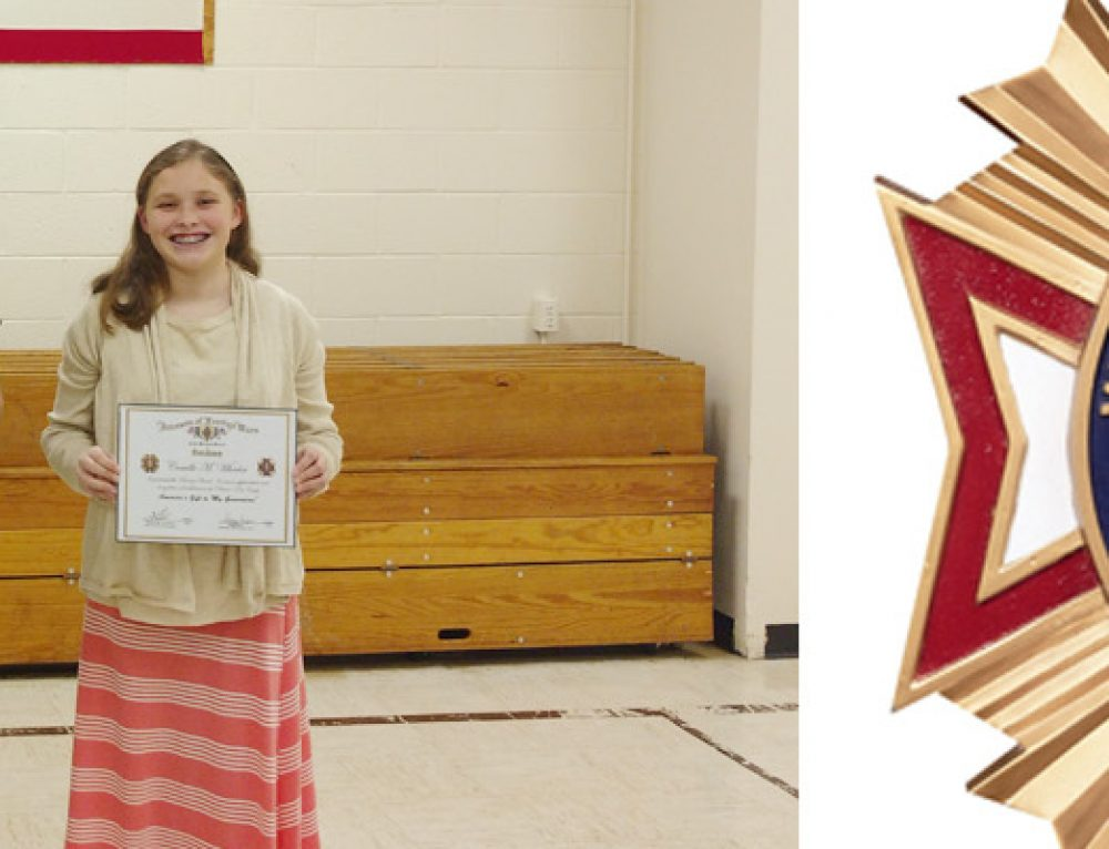 Junior High Students Selected as VFW Patriot's Pen Winners
