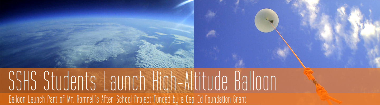 Mr. Romrell's after-school balloon group has launched a high-altitude balloon to over 60000 feet. The launch was partially funded by a grant from the Cap-Ed Foundation.