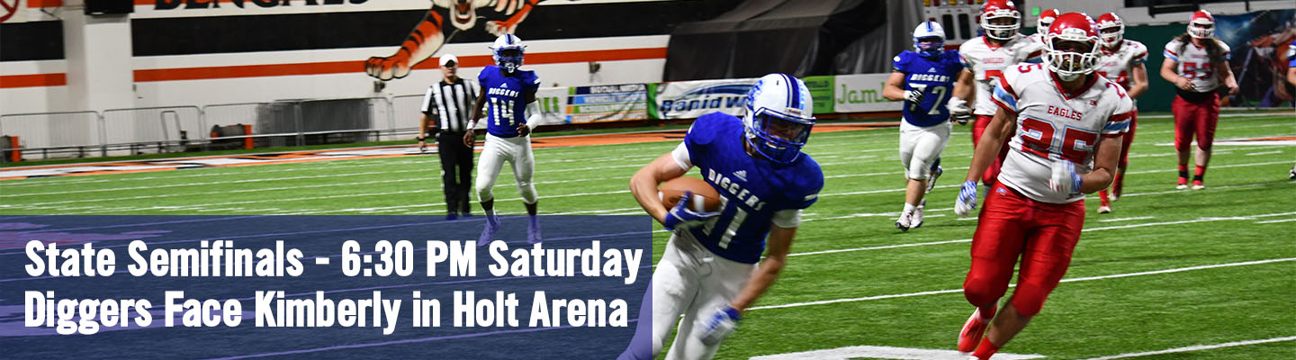 Football faces Kimberly at Holt Arena on Saturday at 6:30 PM.