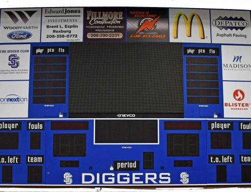 New Gym Scoreboards