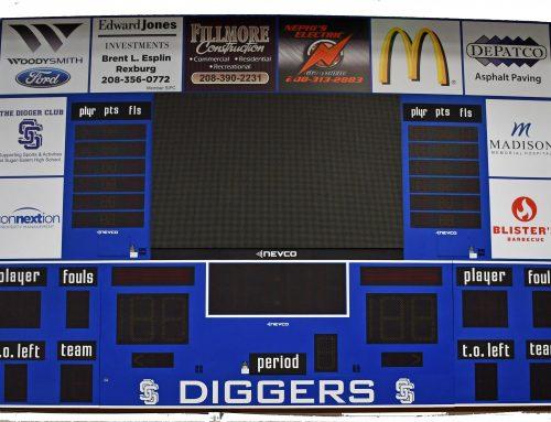 New Gym Scoreboards