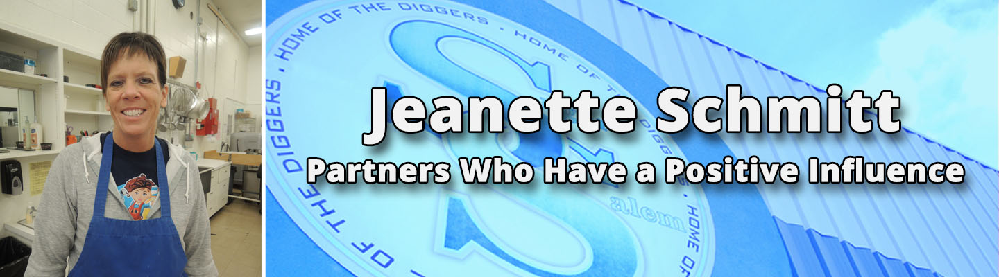 Partner who has a positive influence : Jeanette Schmitt