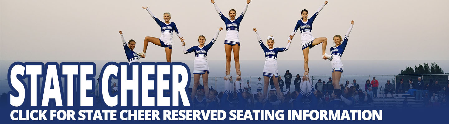State Cheer is March 16th at the Ford Idaho Center. Click for information on reserved seating.