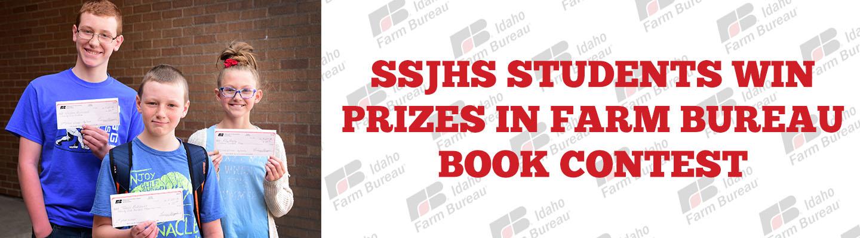 SSJHS Students win prizes in farm bureau book contest.