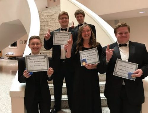 Sugar-Salem Orchestra Trio and Quintet Win at State Competition